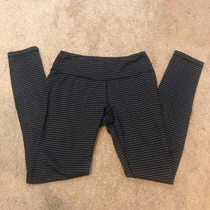 Kyodan Black and Gray Striped Leggings sz S